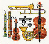 Click for more details of Music Sampler (cross-stitch kit) by Eva Rosenstand
