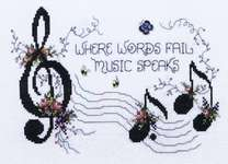 Click for more details of Music Speaks (cross-stitch pattern) by Stoney Creek