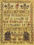 Click for more details of My Friend's House (cross stitch) by Blackbird Designs