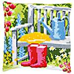 Click for more details of My Garden Cushion Front (tapestry) by Vervaco
