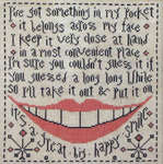 Click for more details of My Pocket (cross-stitch pattern) by La - D - Da