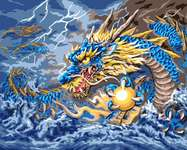 Click for more details of Mythical Dragon (tapestry) by Grafitec