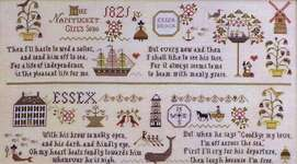 Click for more details of Nantucket Girl's Sampler (cross-stitch pattern) by Plum Street Samplers