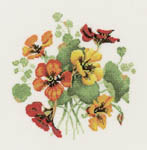 Click for more details of Nasturtium Posy (cross-stitch kit) by Valerie Pfeiffer