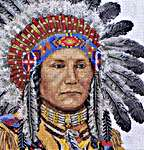 Click for more details of Native American Indian (cross-stitch kit) by maia