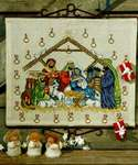 Click for more details of Nativity Advent Calendar (cross stitch) by Permin of Copenhagen