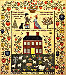 Click for more details of 'Needles and Pins' Wedding Sampler (cross-stitch) by Theron Traditions