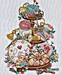 Click for more details of Needlework Tiered (cross stitch) by Les Petites Croix de Lucie