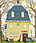 Click for more details of New England Homes - Fall (cross-stitch kit) by Bothy Threads