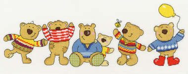 Click for more details of New Jumpers (cross-stitch kit) by Bothy Threads