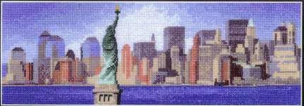 Click for more details of New York Skyline (cross stitch) by John Clayton