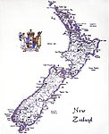 Click for more details of New Zealand (cross-stitch pattern) by Sue Ryder