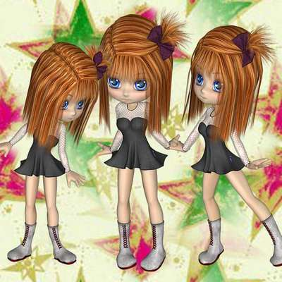 Click for more details of Nine digital Girls (digital downloads) by DawnsDesigns