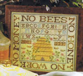 Click for more details of No Bees, No Honey (cross-stitch pattern) by Birds of a Feather