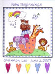 Click for more details of Noah's Ark Birth Announcement (cross-stitch kit) by Janlynn