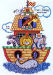 Click for more details of Noah's Ark Birth Sampler (cross-stitch kit) by Design Works