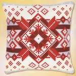Click for more details of Nordic Star Cushion Front (tapestry) by Vervaco