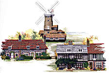 Click for more details of Norfolk Village (cross-stitch kit) by Rose Swalwell