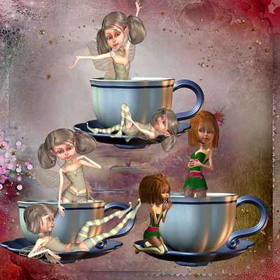 Click for more details of Not my Cup of Tea 1 (digital downloads) by DawnsDesigns