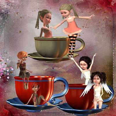 Click for more details of Not my Cup of Tea 3 (digital downloads) by DawnsDesigns