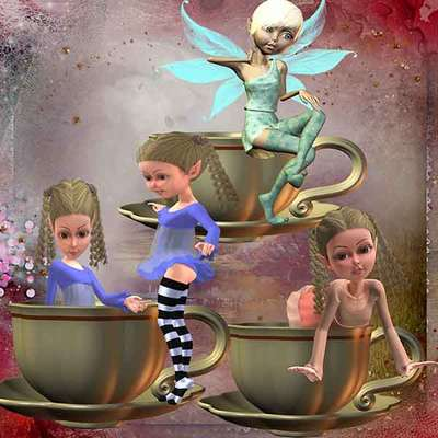 Click for more details of Not my Cup of Tea 4 (digital downloads) by DawnsDesigns