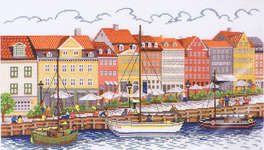 Click for more details of Nyhavn (cross stitch) by Eva Rosenstand