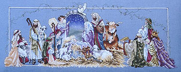 Click for more details of O Holy Night Nativity (cross-stitch) by Stoney Creek