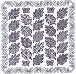 Click for more details of Oak Leaf Panel (blackwork kit) by Classic Embroidery