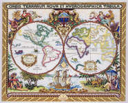 Click for more details of Olde World Map (cross-stitch kit) by Janlynn