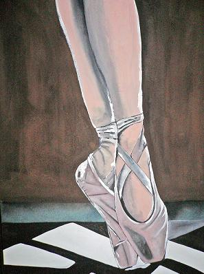 Click for more details of On Her Toes (watercolour on paper) by Abhilasha Singh