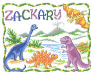 Click for more details of Once upon a Dinosaur (cross-stitch pattern) by Imaginating