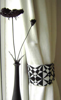 Click for more details of Op Art Curtain Tie Backs (cross-stitch) by Anne Peden