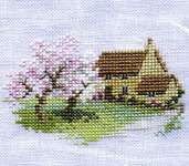 Click for more details of Orchard Cottage (cross stitch) by Rose Swalwell