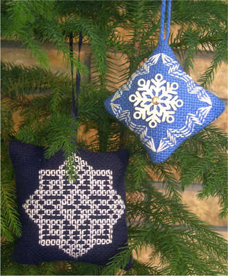 Click for more details of Ornaments 1 Snowflakes (swedish weaving pattern) by Swedish Weave Designs