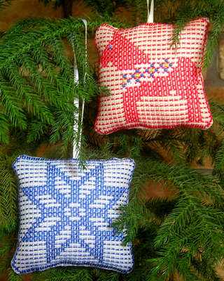 Click for more details of Ornaments 4 Dala Horse/Star (swedish weaving pattern) by Swedish Weave Designs