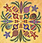 Click for more details of Ornaments Ala Round (cross stitch) by Glendon Place