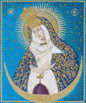 Click for more details of Our Lady at the Gate of Dawn (cross stitch) by Thea Gouverneur