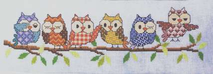Click for more details of Outrageous Owls (cross stitch) by Glendon Place