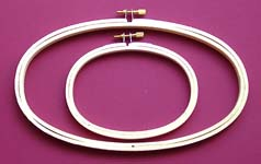 Click for more details of Oval Wooden Embroidery Hoops (hoops and sewing frames) by Siesta Frames