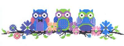 Click for more details of Owls on a Branch (cross stitch) by Imaginating