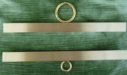 Click for more details of Pair of Breda Bell Pull Hangers (bell pulls) by Permin of Copenhagen