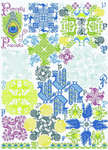 Click for more details of Panoply of Peacocks (cross-stitch pattern) by Tempting Tangles Designs