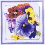Click for more details of Pansies (cross stitch) by Thea Gouverneur