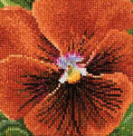 Click for more details of Pansy - Dark Red (cross-stitch kit) by Thea Gouverneur