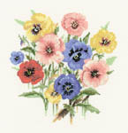 Click for more details of Pansy Posy (cross-stitch) by Valerie Pfeiffer