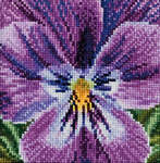 Click for more details of Pansy - Violet (cross-stitch kit) by Thea Gouverneur