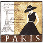 Click for more details of Paris (cross-stitch kit) by Lanarte