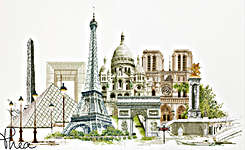 Click for more details of Paris (cross-stitch kit) by Thea Gouverneur