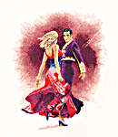 Click for more details of Paso Doble (cross-stitch kit) by John Clayton