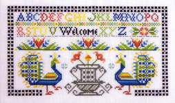 Click for more details of Peacock Welcome (cross stitch) by Rosewood Manor